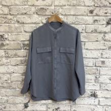 【GUレポ】くすみブルーって最強では?「ダブルポケットオーバーサイズシャツ」が秋にぴったりのかわいさ