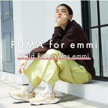 アクセントカラーが光る、「PUMA for emmi」の新作モデル。「CHICSTOCKS」とのコラボ靴下にも注目