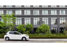 高山グリーンホテル駐車場にて、トヨタレンタカーの24時間無人貸出サービスが開始