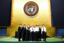 BTS、特別使節として『国連総会』で演説 軽快なパフォーマンスも披露