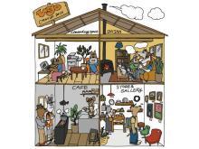 築50年の2階建て古民家を改修した小さな複合店「ugo」が札幌市にオープン!