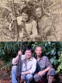 映画『ONODA』津田寛治・仲野太賀が見事に再現 当時の報道写真との比較画像