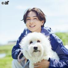 吉野北人「夢のような時間でした!」 『ar』新連載で大好きな犬とフォトセッション