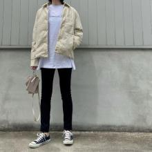 【ユニクロユー】値下げ中の今がチャンス!「パデットシャツジャケット」はメンズライクに着こなすのがかわいい