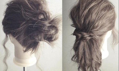 """お出かけ前の3分でできる!伸ばしかけのダサ髪を""""こなれ感""""あるオシャレ髪に変身させるアレンジ集"""