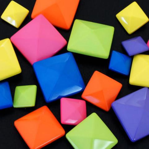 鮮やかなネオンカラーで元気なデザインに♪ハンドネイルデザイン集!