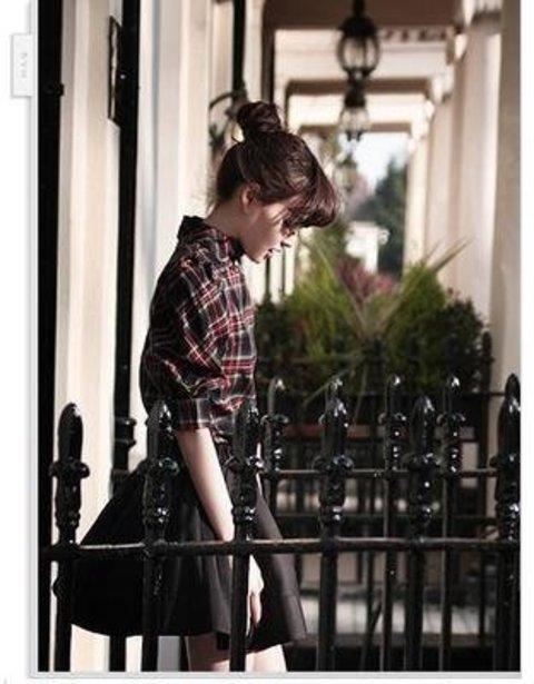 (フルールドリス)Fluer de lis タータンチェック チェック パフスリーブ シャツ ワイシャツ Yシャツ ドレスシャツ カジュアル アパレル レディース ファッション 服 7378 (M) : 服&ファッション小物通販 | Amazon.co.jp