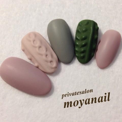 ニットネイル♪ / moya nail (moyanail) のネイル - ネイルクルー