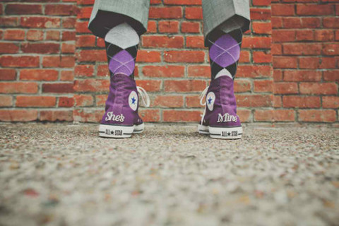 argyle, converse, and groom by Sam   We Heart It