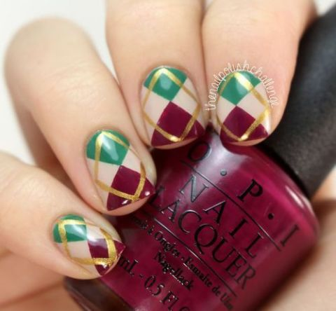 Christmas Nails by Syd and Pia NYC   We Heart It