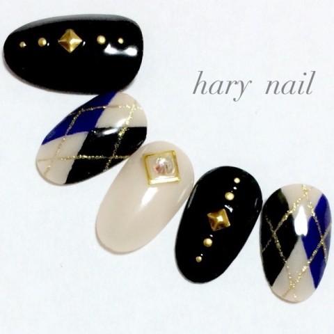 hary_nailさんのソフトジェル,ブラック,秋ネイル♪[1195281]   ネイルブック