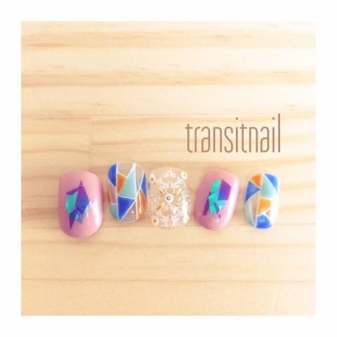 transitnailさんのソフトジェル,海,グリーンネイル♪[1183454] | ネイルブック