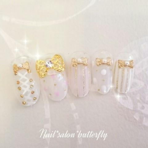 nail_salon_butterflyさんのソフトジェル,ミディアム,夏ネイル♪[1204920] | ネイルブック