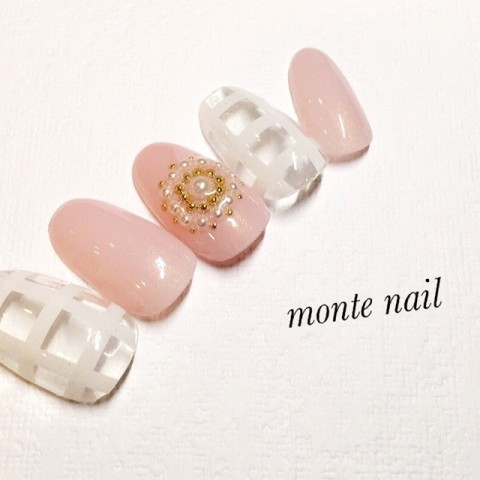 monte_nailさんのバレンタイン,夏,ピンクネイル♪[1209029] | ネイルブック