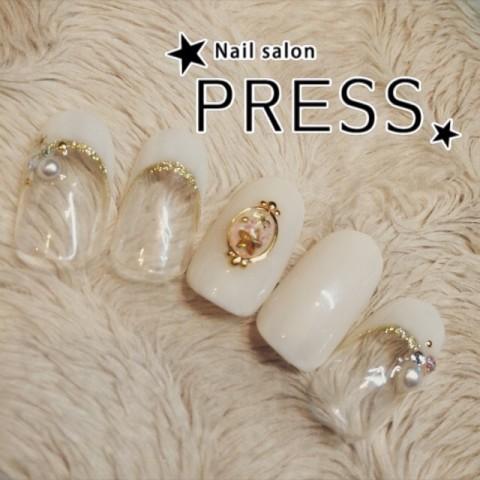 nail_pressさんのソフトジェル,フレンチ,冬ネイル♪[1206122] | ネイルブック