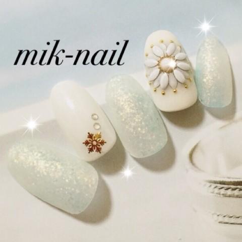 mik_nailさんのバレンタイン,クリスマス,フラワーネイル♪[1205874] | ネイルブック