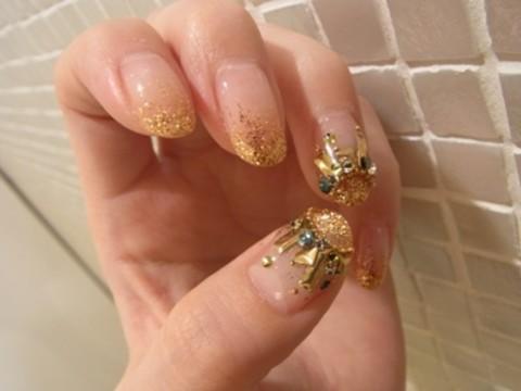 My Nail ゴールドビジューネイル VAJRA Official News 港区六本木のネイルサロンはVAJRA precious nails