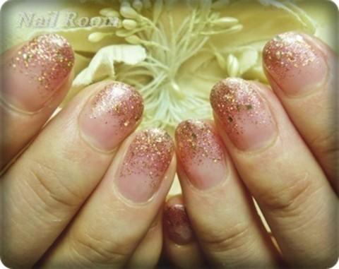 ◆ピンクゴールドネイル◆|Nail Room ~小金井・武蔵境 自宅ネイルサロン~