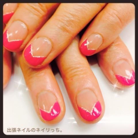 ダブルV字フレンチ : nail salon Rosso blog