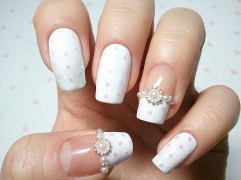 Bridal Nail Designs ♥   We Heart It