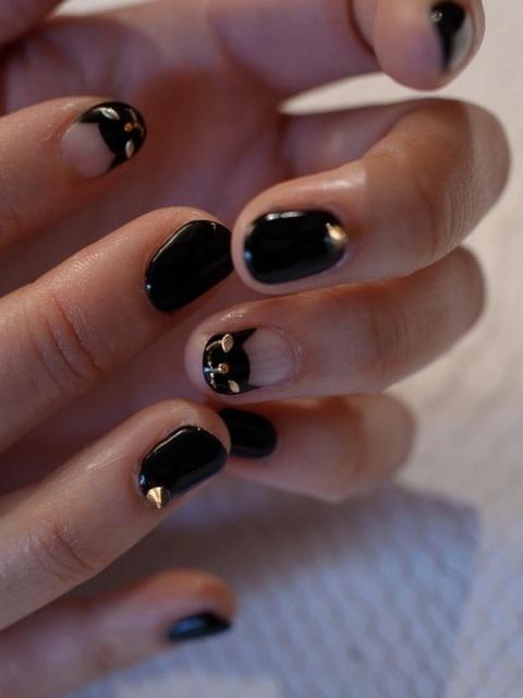 ☆仙台のブティックarrondissementオーナー様ご来店、大人Rockなネイル☆|パリのネイルサロン Bijoux nails Paris
