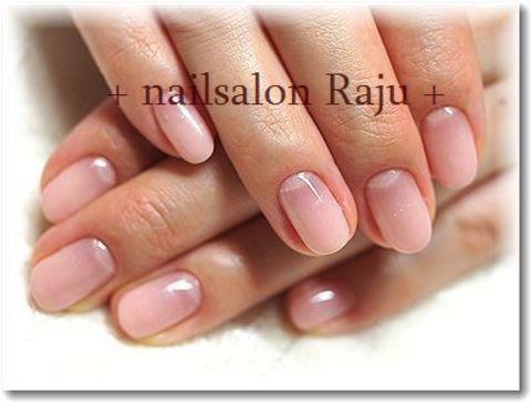 + シンプルベージュピンクグラデーション + 町田ネイルサロン Nail salon 「Raju」