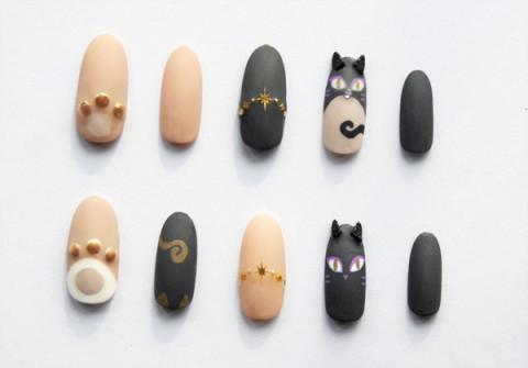 猫耳ネイル - ネイルチップ・ネイルシールのお店「杉澤爪具店」 個性的で上品なアートネイル