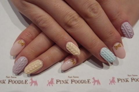 ニットネイル♪♪ :: 西小山・祐天寺のネイルサロン PINK POODLE ピンクプードル|yaplog!(ヤプログ!)byGMO