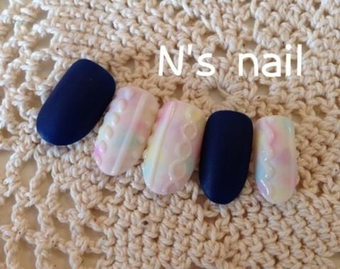 浜松のネイルサロン☆N's nail☆ブログ:ニットネイル