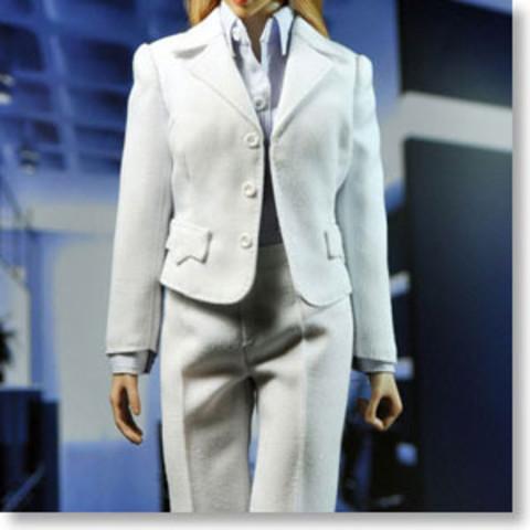ポップトイズ 1/6 女性服 オフィス・レディ スーツ (ホワイト) (ドール)