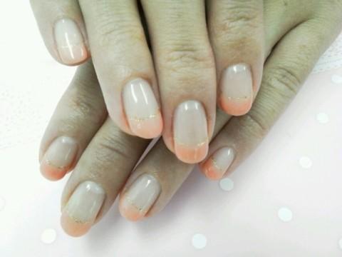 どちらもOL様ネイル。フレンチのオフィスバージョン♪シンプルだけど可愛いです(≧▽≦)|周南市ネイリスト eNs nail 美爪のお手伝い人さやか