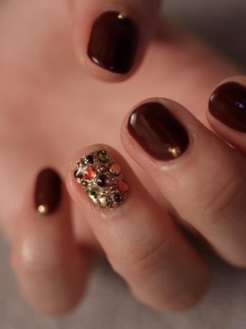 ☆シックに、きらびやかに...秋ネイル☆ パリのネイルサロン Bijoux nails Paris