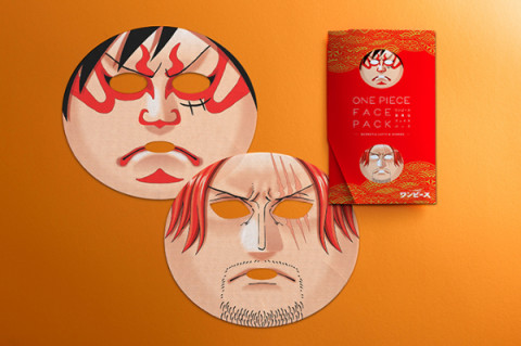 ONE PIECE歌舞伎フェイスパック でルフィ、シャンクスにおれはなる!!!!