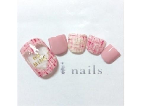 アイネイルズ 渋谷店 I nailsのフォトギャラリー:【79】ハートツイード¥7980|ホットペッパービューティー