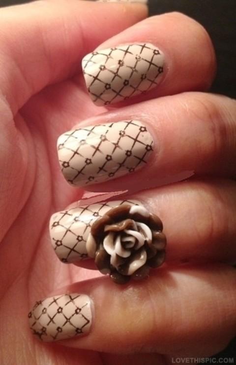 nail art rose - Google Search   We Heart It