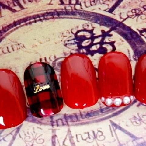 ーRianahーさんのバレンタイン,ソフトジェル,ミディアムネイル♪[1206486] | ネイルブック