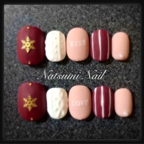 NatsumiNailさんのバレンタイン,クリスマス,ショートネイル♪[1246783] | ネイルブック
