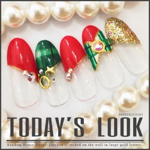 eternailさんのクリスマス,ソフトジェル,グリーンネイル♪[1224695] | ネイルブック