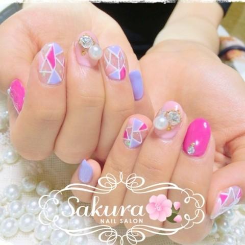 Sakura_nailさんの夏,ピンク,春ネイル♪[1240110] | ネイルブック