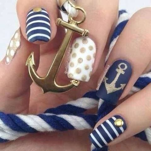 Pretty Anchor nails | The style of a sailor | Pinterest