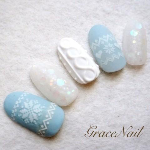 GraceNailさんのクリスマス,ソフトジェル,ミディアムネイル♪[1245436] | ネイルブック