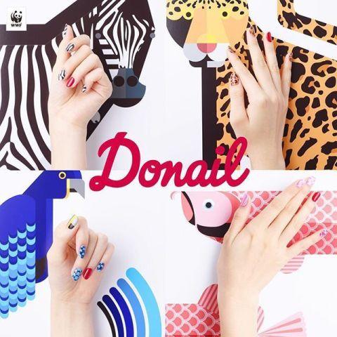 ネイルで動物たちを絶滅から守る?!WWFのDonail(ドネイル)キャンペーンの動物ネイルが可愛い♡
