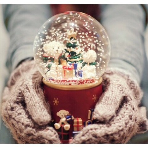 Snowglobe❄️  by Mags | We Heart It