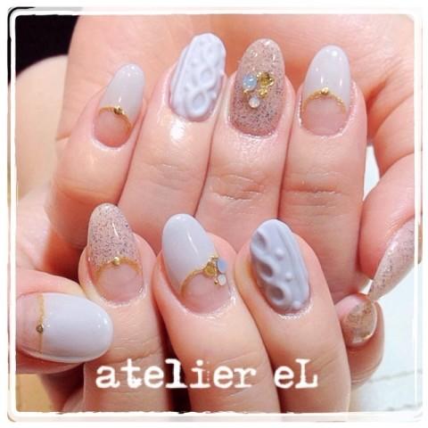 ニットネイル♡ / atelier eL のネイル - ネイルクルー