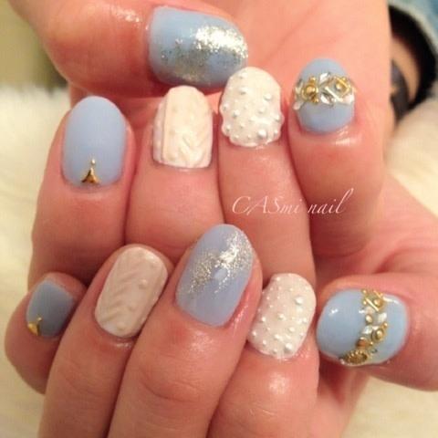 ニット柄ネイル やり方|LAVAN nails niigata CASmi