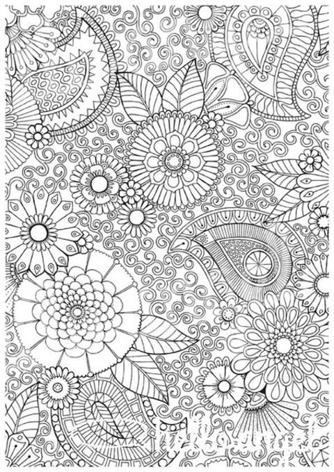 Paisley floral design by de-ri   We Heart It
