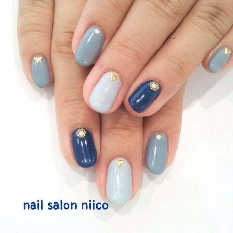 ネイビー×モードスタイル | 江東区・錦糸町・亀戸でおすすめのネイルサロン|Nail salon niico