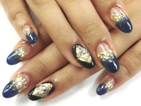 幻想的☆ゴージャスネイビーネイル(一之江店) | nail&academy Piano