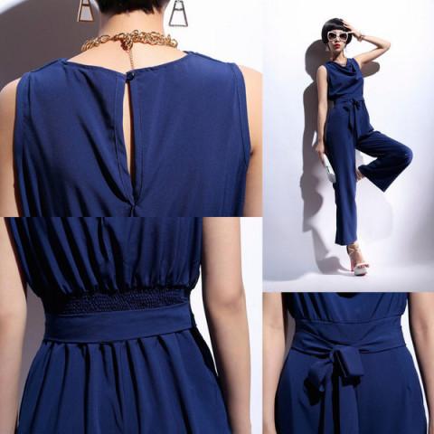 オールインワン ドレープ感がエレガント ネイビー :480004:Venus Fashion - 通販 - Yahoo!ショッピング