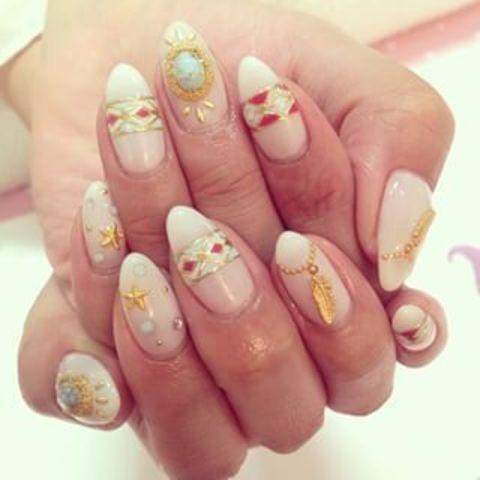 #nail#nailart#gel#gelnail#ネイル#ネイルアート#ジェル#ジェルネイル#kawaii#フェザーネイル#もえちゃんネイル#ターコイズ#夏ネイル#美甲 - na__nail